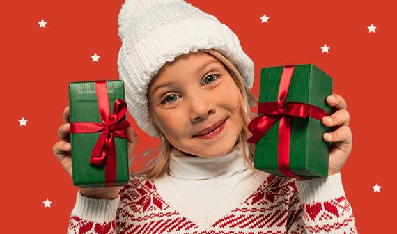 Kerstcadeau meisje